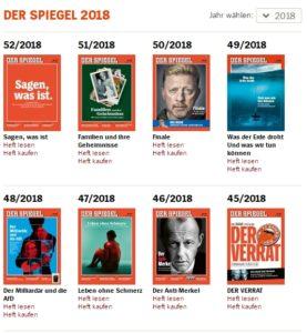 Der Spiegel Jahresarchiv