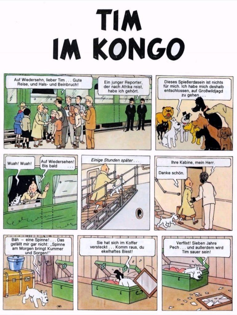 德语漫画-丁丁历险记